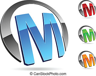"Company symbol. - Letter ""M"" symbol. Vector illustration."