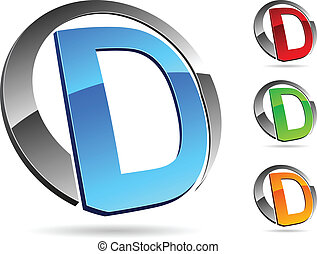 "Company symbol. - Letter ""D"" symbol. Vector illustration."