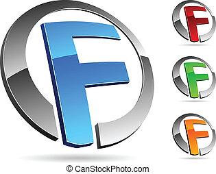 "Company symbol. - Letter ""F"" symbol. Vector illustration."