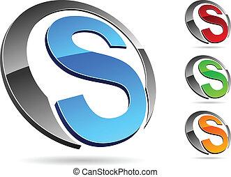 "Company symbol. - .Letter ""S"" symbol. Vector illustration."