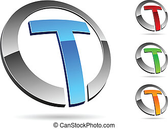 """Letter """"T"""" symbol. Vector illustration."""