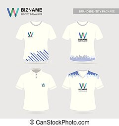 Company T shirt design with logo and typography vector