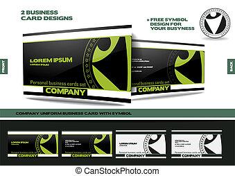 Company uniform business card with symbol