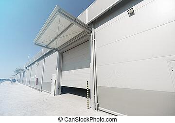 Company warehouse building outdoors