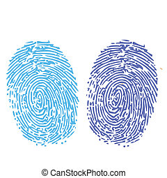 comparación, thumbprint