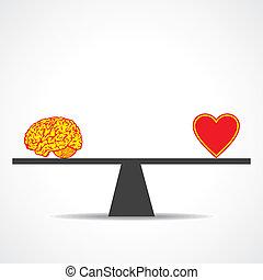 comparar, mente, com, coração