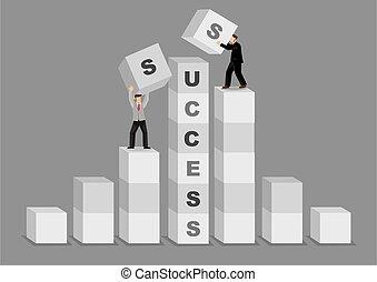 Comparative Advantage for Success Business Cartoon Vector ...