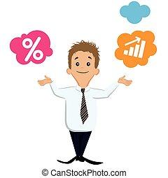 Comparative businessman