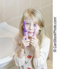 Compare electric and easy tooth brushes.