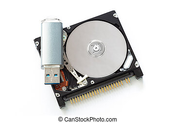 "Compare Hard drive 1.8"" and flashdrive size"