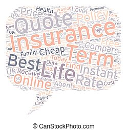 Compare Instant Online Quotes For Term Life Insurance Today text background wordcloud concept