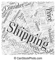 Comparing Online Retailers Word Cloud Concept