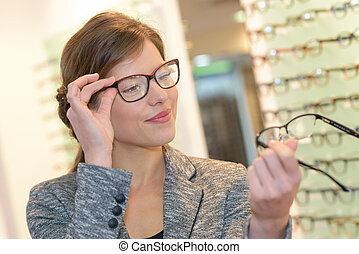 comparing two eyeglasses