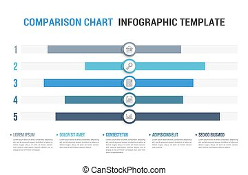 Comparison Chart - Comparison chart with five elements and ...