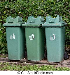 compartimiento de la basura, parque