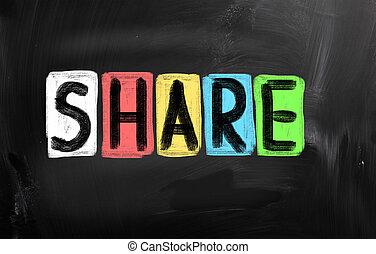 compartir, concepto