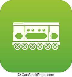 Compartment carriage icon green vector