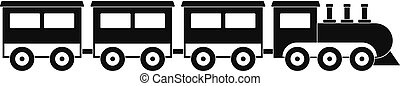 Compartment train icon, simple style.