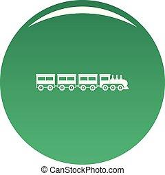 Compartment train icon vector green