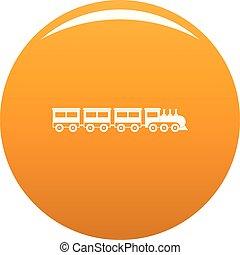 Compartment train icon vector orange