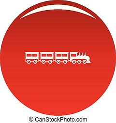 Compartment train icon vector red