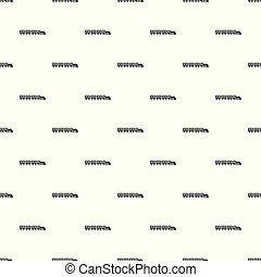 Compartment train pattern seamless vector