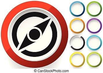 compas, concepts, navigation, symbole., direction, icône, exploration