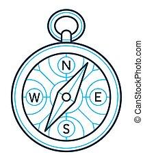 compas, contour, dessin, icône