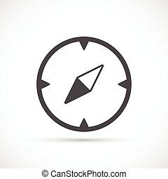 compas, icône, fondamental