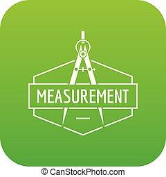 Compas icon green vector