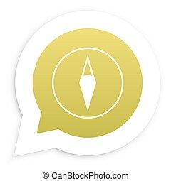 Compas in speech bubble icon Vector