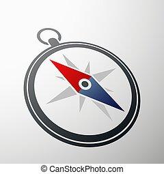 compas, logo., illustration., stockage