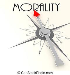 compas, mot, moralité