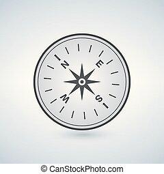 compas, noir, icône