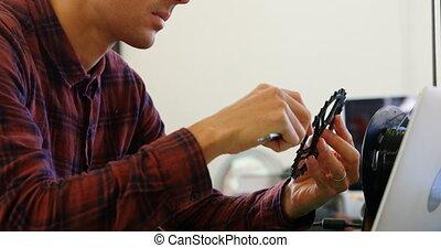 compas, vérification, vernier, diamètre, anneau, mécanicien,...