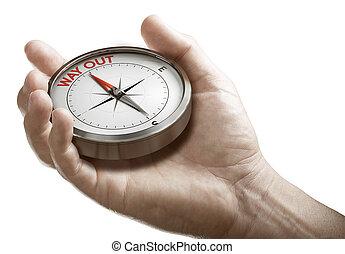 compass., 出口, plan., ∥あるいは∥, 保有物, 人, 概念, 危機, 作戦