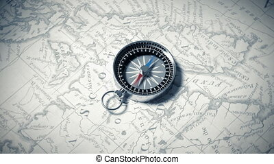 Compass. 3D Animation.