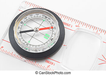 Compass - A compass used for finding direction.