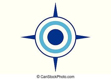 compass abstract logo icon concept