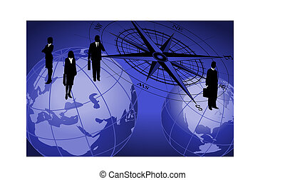 Compass and Businessmen