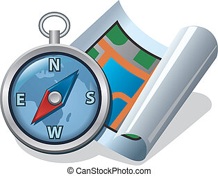 compass and map icon