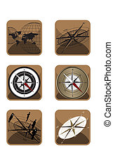 Compass and Map Icons