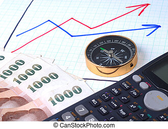 Compass and money on graph