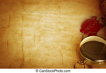old letter with wax seal vintage background old letter with wax