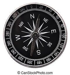 compass and white copyspace for text message