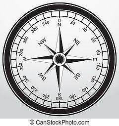 Compass app icon, vector illustration