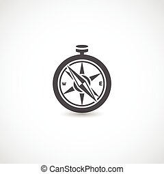 Compass black isolated