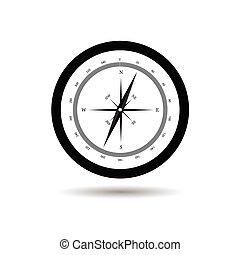 compass black vector