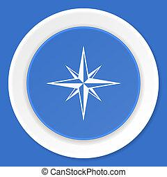 compass blue flat design modern web icon