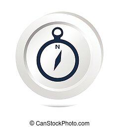 Compass button icon